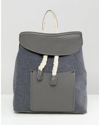 Liquorish - Rope Detail Backpack - Lyst