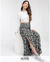 Miss Selfridge Button Down Maxi Skirt - Black