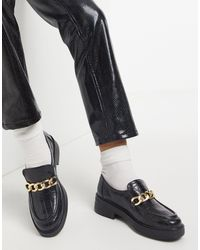ASOS Maple Chunky Chain Loafers - Black