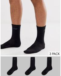 New Balance Confezione da 3 paia di calzini neri - Nero