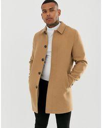 ASOS Wool Mix Coat - Natural