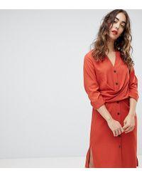 61900022c14da Free People Victorian Waisted Mini Dress in Brown - Lyst