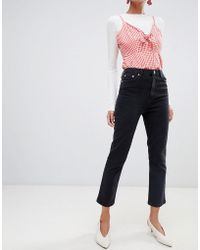 Warehouse - Slim Cut Jeans In Black - Lyst