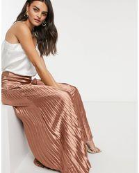 Vila Pleated Satin Maxi Skirt - Multicolor