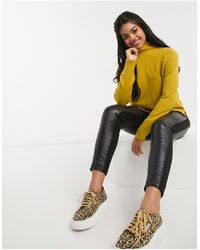 Oasis Button Neck Jumper - Yellow