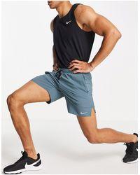 Nike Dri-fit Flex Stride 7 Inch Shorts - Blue