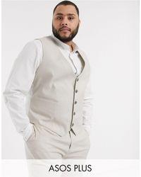 ASOS Plus Wedding Super Skinny Suit Waistcoat - Multicolour