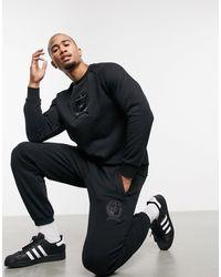 adidas Originals Черные Флисовые Джогеры С Университетским Гербом От Комплекта -черный