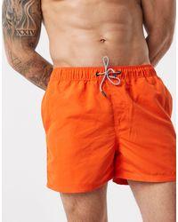 Jack & Jones Intelligence - Zwemshort Van Gerecycled Polyester - Oranje