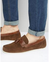 Red Tape Loafers In Brown Suede