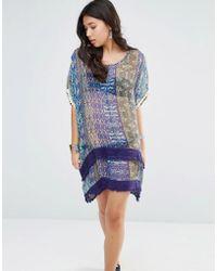 Gypsy 05 - Printed Silk Hi Lo Oversized Dress - Lyst