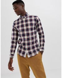 Jack & Jones - Geruit Overhemd In Slim-fit - Lyst