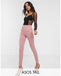 ASOS Asos Design Tall High Waist Trousers - Multicolour