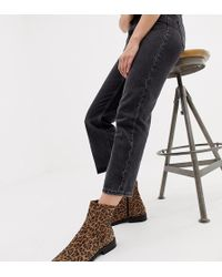 ASOS - Wide Fit Albany Suede Sock Boots In Leopard - Lyst