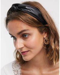 River Island Knot Headband - Black