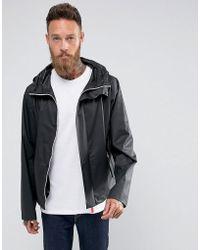 HUNTER - Hooded Raincheater Jacket In Black - Lyst
