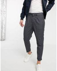 New Look Joggers eleganti easy-on con piega grigio medio