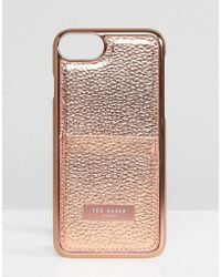 Ted Baker - Card Holder Iphone 7 Case - Lyst