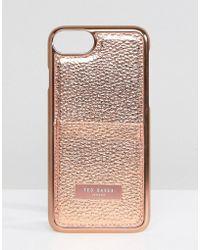 Ted Baker Coque pour iPhone 7 avec porte-cartes - Rose