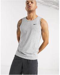 Nike Dri-fit Training Tank Top - Grey