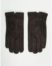 Barneys Originals Barneys Original Suede Touchscreen Gloves - Brown