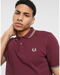 Fred Perry Twin Tipped Polo - Red