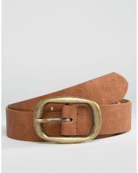 ASOS - Rectangle Buckle Jeans Belt - Lyst