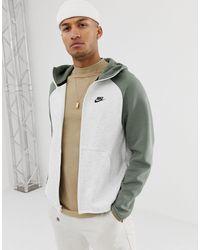Nike Fleece Hoodie In Groen - Meerkleurig