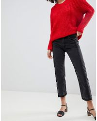 Mango - Straight Jean With Frayed Detailing - Lyst