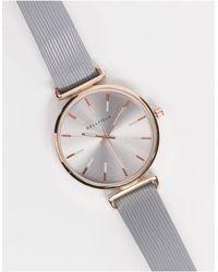 Bellfield Часы Синего Оттенка С Розово-золотистой Отделкой -серый