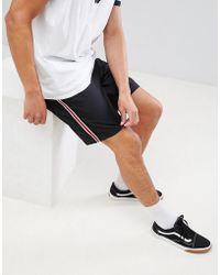 Bershka - Shorts With Side Stripe In Black - Lyst