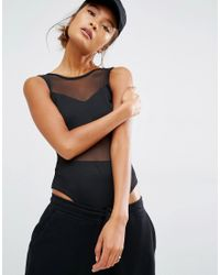 Daisy Street | Body With Mesh Panel | Lyst