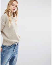 Daisy Street - High Neck Jumper In Sparkle Knit - Lyst