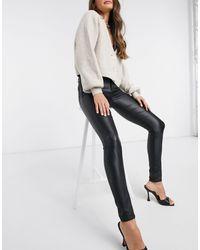 Vila Coated Jeans - Black