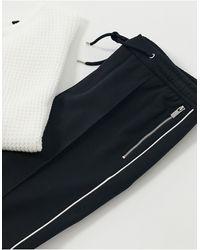 River Island Smart sweatpants With Side Stripe - Blue