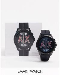 Armani Exchange Drexler - Siliconen Smart Watch - Zwart