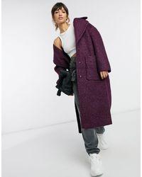 UGG Hattie - Cappotto lungo oversize viola