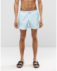 Cheats & Thieves - Mid Length Swim Shorts In Blue - Lyst