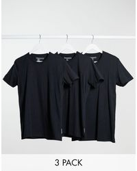 French Connection 3 Pack Lounge T-shirt - Black