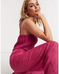 UNIQUE21 Комбинезон Малинового Цвета С Блестящим Эффектом Unique 21-розовый - Многоцветный