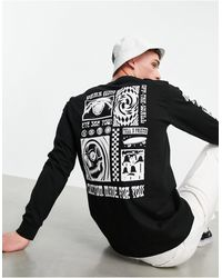 Vans Eye See You Back Print Long Sleeve T-shirt - Black