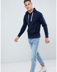 Jack & Jones – Essentials – Kapuzensweatshirt zum Überziehen - Blau