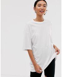 1339fb6de7 Oversized Longline T-shirt In White