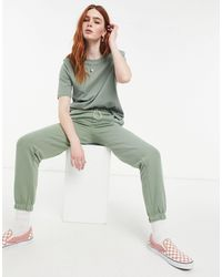 ONLY Cuffed jogger With Drawstring Waist - Green