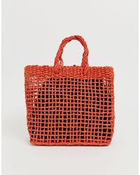 Oasis Woven Tote Bag - Orange