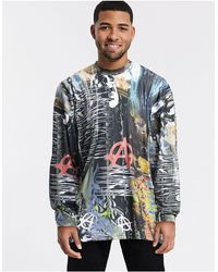 Jaded London Electric Collage Long Sleeve Top - Multicolour