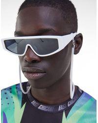 Bershka Sunglasses With Chain - White