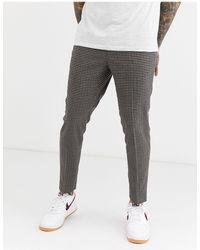 River Island Pantalon habillé à carreaux traditionnels - Marron
