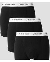 Calvin Klein - 3 Pack Trunks Cotton Stretch - Lyst