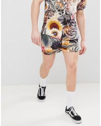 River Island - Shorts In Sunflower Print - Lyst
